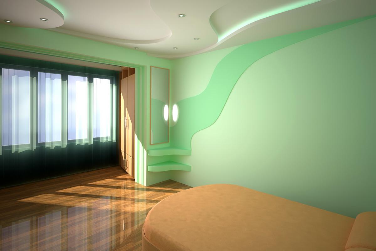 Потолок из гипсокартона спальня своими руками фото